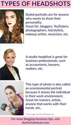 "Types of Headshots | Visit this blog post to read ""How to Have a Professional Blog/Website on Any Budget"" by Desire Chanteuse, Alabama fashion+beauty blogger 