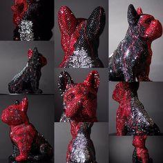 FRENCH BRUNO / RUBIO ______________________________________________ #frenchbruno #art #sculpture #blingbling #swarovski #kunst #j_leitner #crystal #amazing #glamorous #glamour #luxury #exclusive #frenchbulldog #frenchie #doggy #glitter #figure #dog #hund #rubio #sun #butterfly #atelier #rosengarten #johannes_egi #graz Paint Colors, Swarovski, Butterfly, Glitter, Bling, Glamour, Sculpture, French, Photo And Video