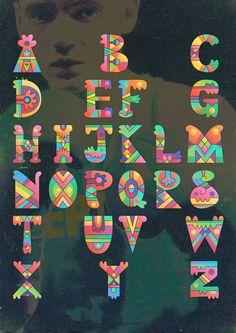 alphabet Typography Alphabet, Cool Typography, Graffiti Lettering, Calligraphy Alphabet, Calligraphy Fonts, Block Lettering, Typography Fonts, Graphic Design Typography, Alphabet Soup