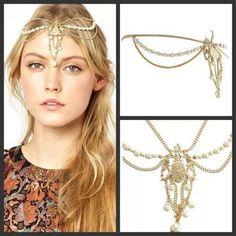 1X-Fashion-New-Celebrity-Head-Chain-Jewelry-Women-Headband-Headpiece-Hair-Band
