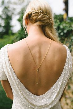 back drop necklace for a special bridal look