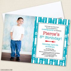 Cooking Theme Birthday Party Invitations