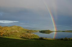 myirishhome:  Rainbow reflection, Donegal lake.