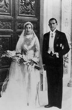 Their Royal Highnessess Infante Juan and Infanta Maria Mercedes of Spain, Count and Countess of Barcelona. Married: October 12, 1935