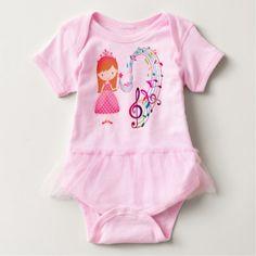 Musical Magic: Baby Tutu Bodysuit - newborn baby gift idea diy cyo personalize family
