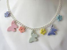 Glazed Greek ceramic beads on chain. Kit from Beadsite.co.uk only £4.50