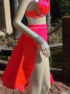 Beautiful Custom Dance Costume jazz lyrical contemporary | Etsy Custom Dance Costumes, Jazz Dance Costumes, Bra Styles, Coral, Two Piece Skirt Set, Feminine, Contemporary, Formal Dresses, Skirts