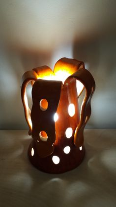 Lamp shade. Volcano. Ceramic hand made statue with hidden light fixture. sculpture