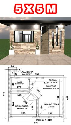 Small House Layout, Small House Design, Dream Home Design, Home Design Plans, Small House Plans, House Layouts, Small Apartment Plans, Studio Apartment Floor Plans, Small Log Cabin