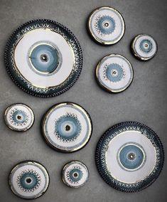 Ceramic Painting, Stone Painting, Evil Eye Art, Types Of Ceramics, Acrylic Painting Tips, First Apartment Decorating, Evil Eye Jewelry, Hamsa Hand, Bottle Art