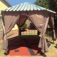 Best Redesigned The Top Of My Gazebo After The Tarp Got All 640 x 480