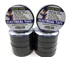 Black Electrical Tape Vinyl Electric 10 Pack 7 Mil Thick 3 4 Inch Wide 66 Foot for sale online Temperature Weather, Colored Tape, Flame Retardant, Electrical Tape, Packing, Ebay, Things To Sell, Black, Audio