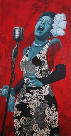 "Saatchi Art is pleased to offer the painting, ""Billie's Blues,"" by Jules Arthur. Original Painting: Mixed Media on N/A. Size is 0 H x 0 W x 0 in. Pop Art Illustration, Art Illustrations, Strange Fruit, Billie Holiday, Harlem Renaissance, Jaz Z, Ladies Day, Country Music, Different Styles"