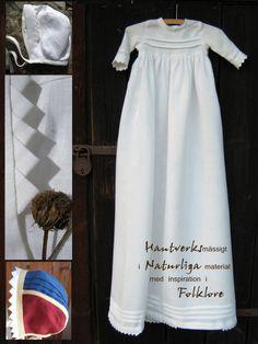 Vykort, Lysts dopklänning med fattigspets, samt hättor
