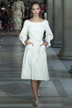 (Carolina Herrera)2017 calf length skirt