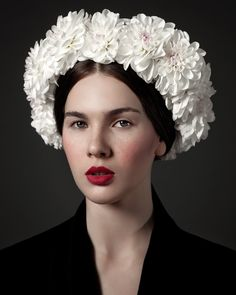Flower Girls by Irina Bordo for Fashion Gone Rogue. Absolutely beautiful lipstick color.