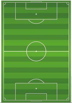 Fußballfeld Fußball Platz zum Ausdrucken