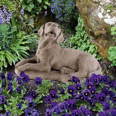 Labrador: Antik-patinierter Steinguss aus England. Das Gussmaterial ist eine Mischung a... - gefunden auf www.country-garden.de