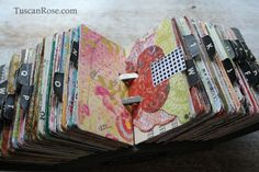 This amazing Rolodex Art was done by Tuscan Rose.
