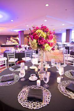Sheraton Dallas Wedding Silver Purple Fuchsia Www Significanteventsoftexas