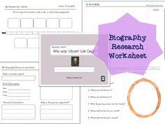 Biography Research Report / Roald Dahl Biography worksheet | Roald ...