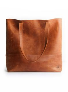 Leather tote //