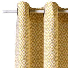 Rideau PALACIO coloris jaune moutarde 140 x 240 cm