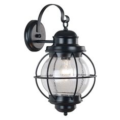 Hatteras Large Wall Lantern, Black
