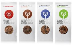 The Living Food Kitchen packaging design - Studio h