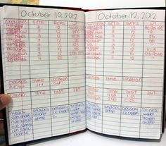 exercise log book