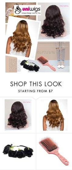 """""""UniWigs"""" by mirelagrapkic ❤ liked on Polyvore featuring Simple Pleasures, women's clothing, women's fashion, women, female, woman, misses and juniors"""