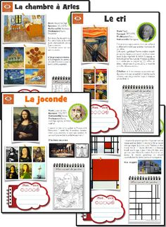 l'art] L'oeuvre d'art de la semaine fiches oeuvres d'art: artist of the week with PDF activity sheet. Also has timeline and student evaluationfiches oeuvres d'art: artist of the week with PDF activity sheet. Also has timeline and student evaluation French Classroom, Art Classroom, French Education, Art Education, History Education, Education Quotes, Teaching French, Teaching Art, History Memes