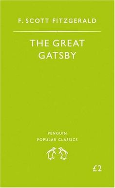The Great Gatsby, the only book I remember truly enjoying from English class in high school.