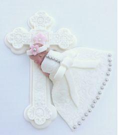 CHRISTENING BABY CROSS Cake Topper Baptism by BabyCakesByJennifer, $45.00