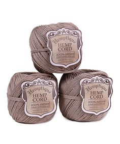 Another great find on #zulily! Natural Hemp Cord Ball - Set of Three by Hemptique #zulilyfinds
