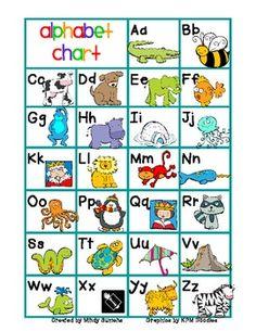 FREE - Alphabet Chart color/b&w