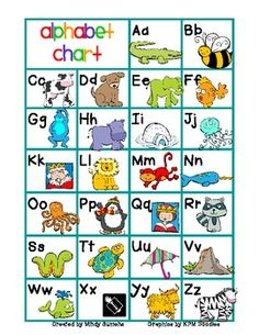 FREE - Alphabet Chart color/b&w