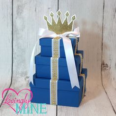 Small 3 Tier Prince Centerpiece Perfect for Any by LovinglyMine