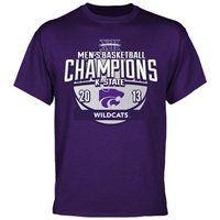 cdaf015a3e41 Kansas State Wildcats 2013 Big 12 Men's Basketball Regular Season Champions  T-Shirt - Purple