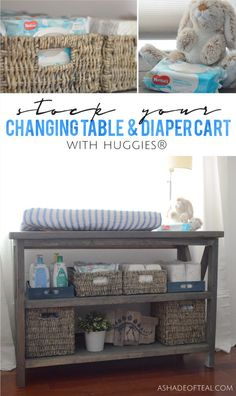 Learn how I stock my Changing Table & Diaper Cart with @Huggies® from @Sam's Club! #nothinglikeahug #ad