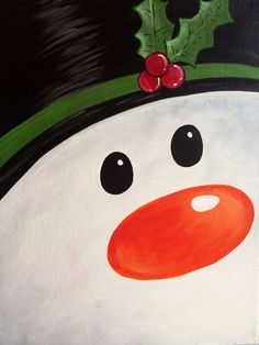 View Paint and Sip Artwork - Pinot's Palette Paint And Sip, Easy Canvas Painting, Painting For Kids, Winter Painting, Diy Painting, Frozen Painting, Painting Classes, Christmas Art, Christmas Projects