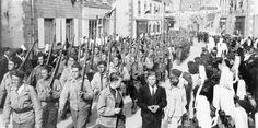 Dimanche 24 septembre 1944 - Toutes les compagnies FFI et FTP du Pays bigouden défilent  à Pont-l'Abbé. (Photos DR)  © Le Télégramme - Plus d'information sur http://www.letelegramme.fr/ar/viewarticle1024.php?aaaammjj=20041008&article=8771584&type=ar