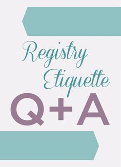 Our EXPERT answers to your registry questions! Only in our FallBook!