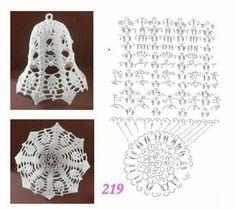 Pin by Marta Juszczyk on szydelko Crochet Doily Patterns, Crochet Motif, Crochet Designs, Crochet Doilies, Thread Crochet, Crochet Christmas Decorations, Crochet Decoration, Crochet Ornaments, Crochet Angels