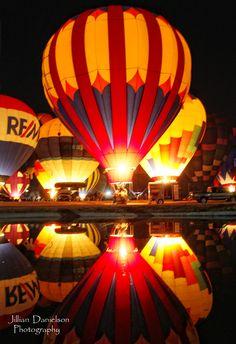 Hot air balloon festival . Lake Havasu City, AZ. Night glow. Photographer Jillian Danielson