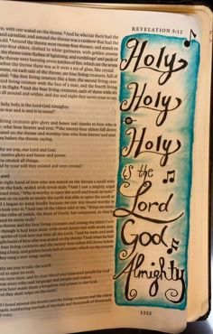Holy, Holy, Holy is the Lord God Almighty Bible Journaling