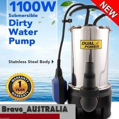 Submersible Dirty Water Pump Garden Stainless Steel Sewage Well Tank 1100W