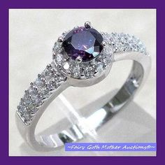 'LOVELY AMETHYST STERLING SILVER MICRO PAVE RING Sz9' is going up for auction at  12pm Mon, Jun 24 with a starting bid of $10.