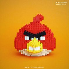 Generation 1 Angry Bird Red  ... Do you like the Generation 2 (movie version) more? Haha  ... http://www.christan.design ... #angrybird #angrybirds #angrybirdsmovie #rovio #chrisnanoblock #nanoblock #nanoblocks #bricks #blocks #buildingblocks #toy