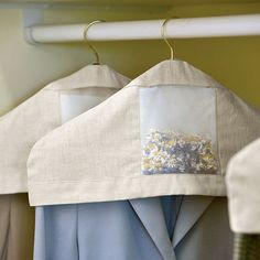 Linen hanger covers filled with chamomile and lavender (Kaufartikel)